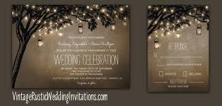 jar wedding programs tree wedding invitations vintage rustic wedding invitations