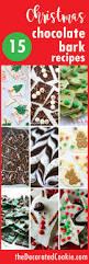 Christmas Sweet Recipes Gifts A Roundup Of 15 Christmas Chocolate Bark Recipes Handmade Gift