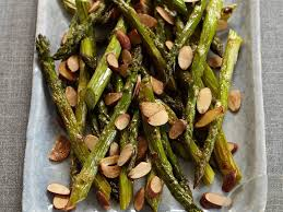 roasted asparagus with almonds recipe grace parisi food wine