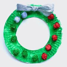 Holiday Wreath Paper Plate Holiday Wreath Craft Raising Arizona Kids Magazine