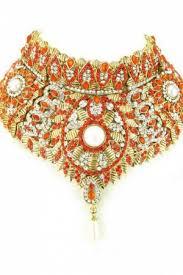 orange necklace sets images Necklace set orange color necklace set zohraa jpg