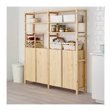 Ikea 2 Door Cabinet Ivar 2 Section Shelving Unit W Cabinet 68 1 2x11 3 4x70 1 2