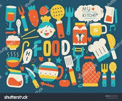 Kitchen Background Cooking Kitchen Background Stock Vector 228093574 Shutterstock