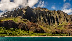 Hawaii Mountains images Nature water mountains cliff coast hawaii wallpaper and background jpg