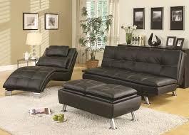 dilleston black vinyl sofa bed chase u0026 storage ottoman set