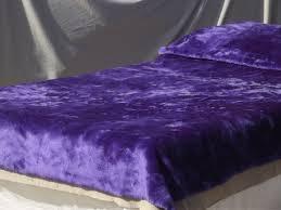 Fuzzy Purple Rug Retro Purple Shag Fake Fur Bedspread 70s Vintage Furry Fabric