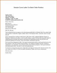 sample cover letter for maintenance position banking cover letter sample cover letter for banking sample cover