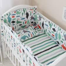 5pcs cotton crib bedding set cartoon deer horses rabbits newborn