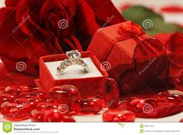 red hearts and rose with wedding ring stock photo image 49221479