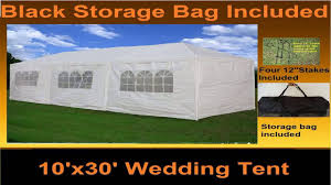 Outdoor Carport Canopy by 40x20 Pe Tent White Heavy Duty Party Wedding Canopy Carport