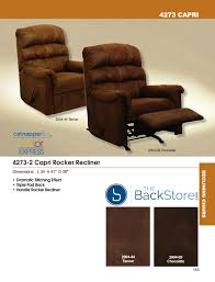 catnapper capri 4273 rocker recliner