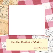 powerpoint cookbook template my recipe book 85 x 85 cover page