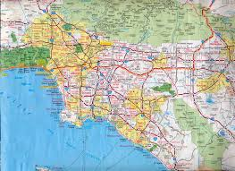 los angeles map pdf los angeles vicinity map indiana map