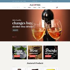 alcohol website templates