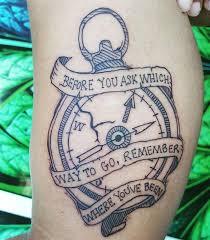 compass u0026 banner tattoo on inner upper arm by stefanee schofield