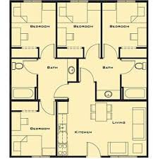 4 bedroom house designs floor plans 4 bedrooms house design 4