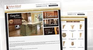 kitchen island columns custom website design u2022 online marketing