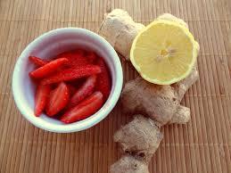 cuisine au gingembre fraises gingembre et citron la tendresse en cuisine