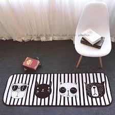 Cat Area Rugs 180 The Nordic Popular Logo Sunglasses Cat Carpet Antiskid Bedroom