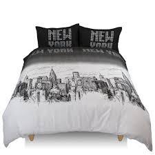 pixel black white new york bedding twin full queen king duvet