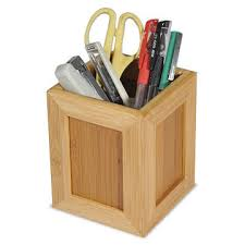 Pencil Holders For Desks Taiwan Pencil Holder Made Of Bamboo Suitable For Home And Office