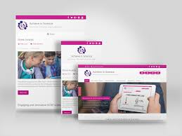 gcse science learning resource website built with wordpress for