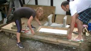 Concrete Garden Furniture Molds by Making A Concrete Seat Part 4 Casting Youtube
