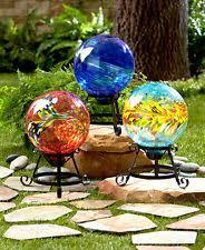 glass gazing balls stands ornaments ebay