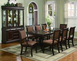 mark merlot 7pc double pedestal dining set