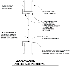 Patio Door Threshold Detail Lead Shielding For Cad Drawings Radiation Shielding