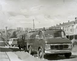bentley van vans u2014 a drawing by peter bentley