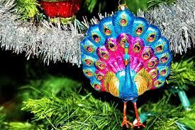 peacock christmas tree ornament the curmudgeonly professor