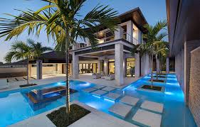 Concrete Home Designs Modern Concrete Pool Decks Home With Utra Feat Under Water Lamp