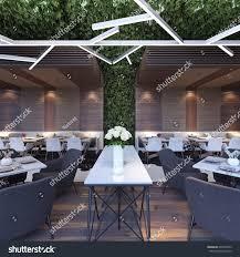restaurant concept design modern concept design restaurant lounge 3d stock illustration