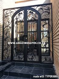 Front Door Security Gate by Wrought Iron Gates In South Africa Amazing Gates