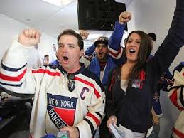 new york rangers fans new york rangers fans wing it to a new jersey win midtown new