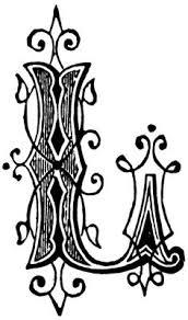 ornamental letter m m