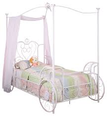 powell princess emily carriage canopy twin size bed includes bed