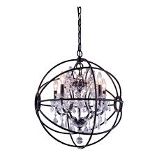 Crystal Sphere Chandelier Foucault U0027s Orb 5 Light 20