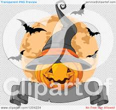 halloween banner png cartoon of a halloween jackolantern pumpkin with a witch hat