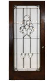 bullseye glass door arts and crafts beveled glass door in oak with original crystal