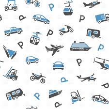 seamless backdrop seamless backdrop with transport icons wrapping paper vector