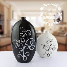 black and white vase for home decoration ceramics crafts gifts