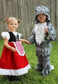 Toddler Wolf Halloween Costume Itty Luxe Red Riding Hood Big Bad Wolf Costume