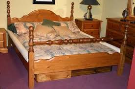 Water Bed Frames Woodland Pine Turned 4 Post Waterbed Frame Hardsided Waterbeds