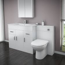 Black Bathroom Vanity Units by Turin High Gloss White Vanity Unit Bathroom Suite W1500 X D400