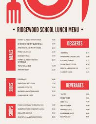 menu red blocks with icon lunch menu templates by canva