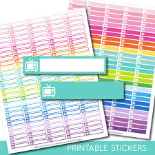 printable tv stickers tv planner stickers sti 144 js digital paper