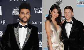 the weeknd references selena gomez justin bieber on his