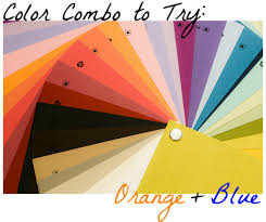 color combinations with orange color combo to try orange blue college fashion